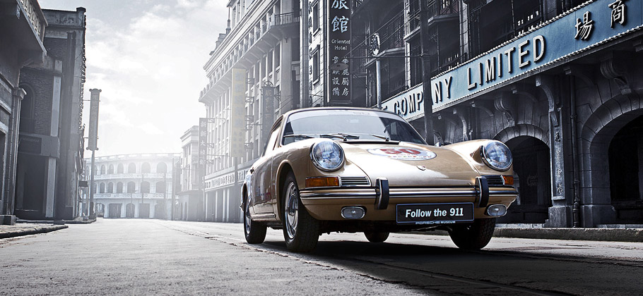 "The Porsche 911 ""Around the World"" visiting in China."
