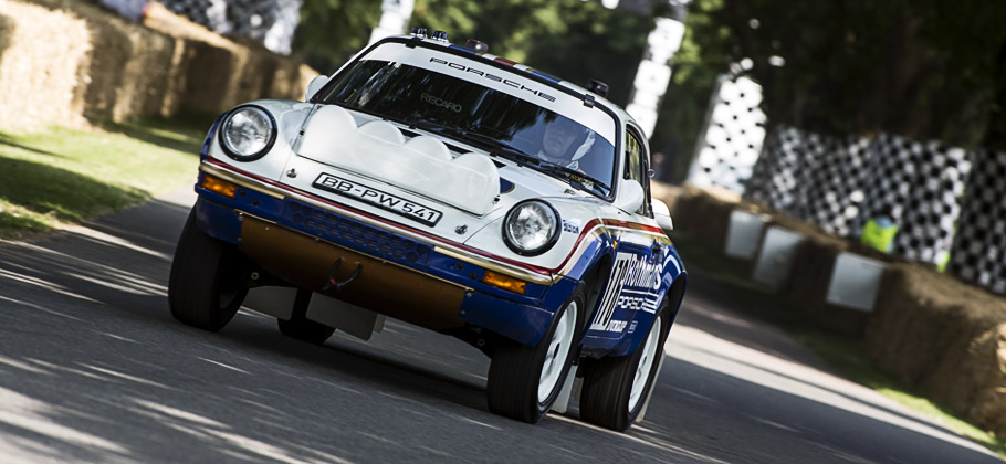 The Porsche 911 Carrera 3.2 4x4 (953) at the Goodwood Festival 2013.