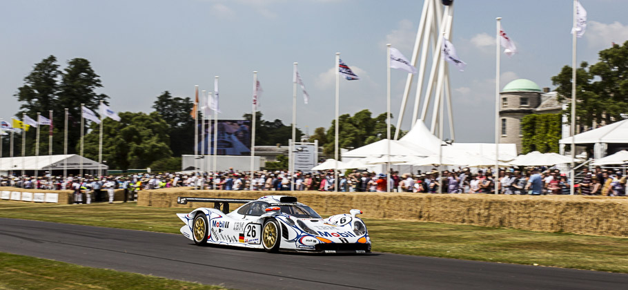 The Porsche 911 GT1 98 at the Goodwood Festival 2013.