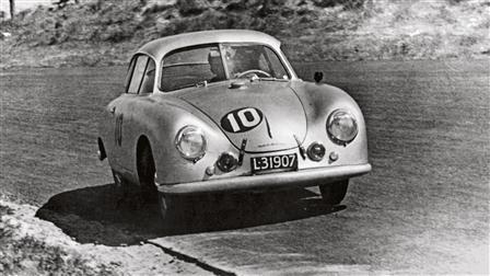 Porsche 356 SL at Zandvoort in 1953