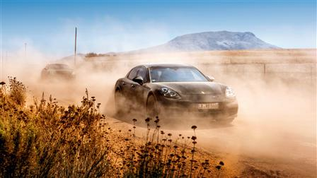 Porsche Panamera on a test tour in South Africa