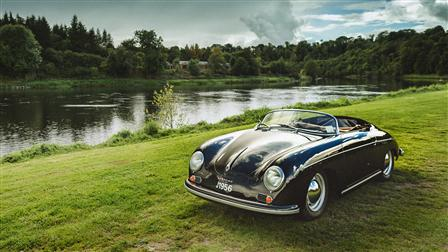 Porsche 356 Speedster at River Tay in Scotland