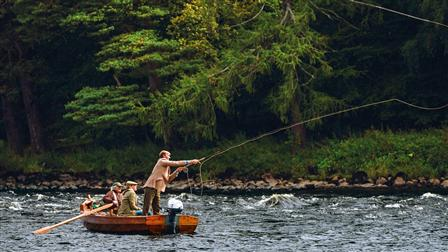 Angler on River Tay in Scotland