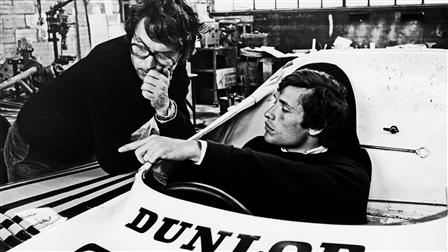 Porsche (l. - r.) Jacky Ickx, race enigneer Wolfgang Berger, 1977