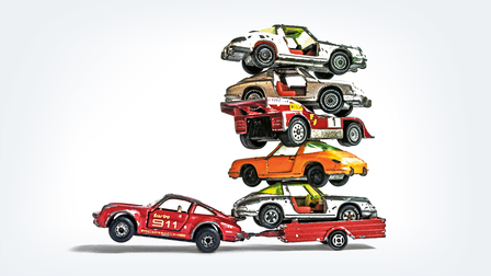 Diverse toy cars