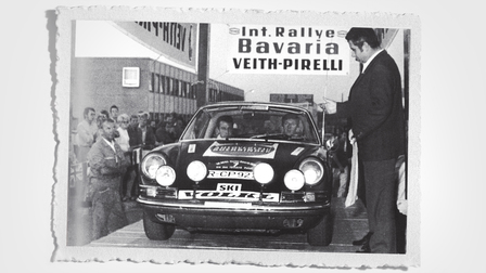 Walter Röhrl at Bavaria Rally (1970)