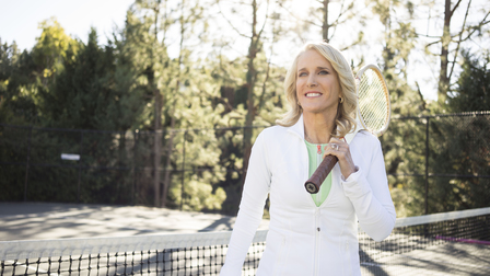 Tracy Austin on the tennis court