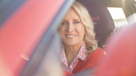 Tracy Austin in the Porsche 911 GT3 RS