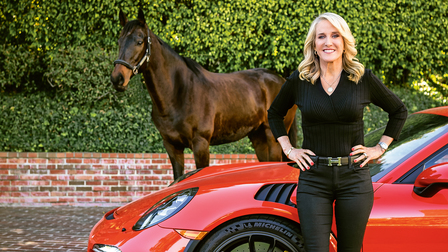 Tracy Austin and her Porsche 911 GT3 RS