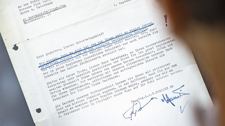 Official letter signed by Ferry Porsche
