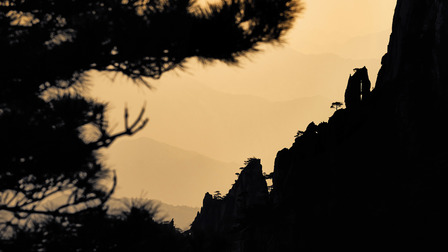 Porsche Shadow play in the Huangshan mountains