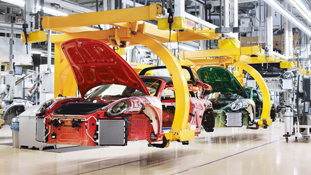 Porsche The 999,999 911 on the production line