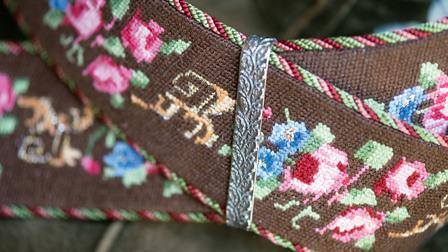 Embroidered monograms make suspenders unique
