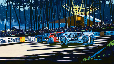 Porsche Painting of Tim Layzell