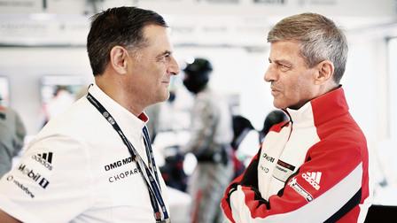 Porsche Michael Steiner and Fritz Enzinger (r.)