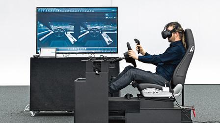 Porsche Sebastian Reher at the virtual lab