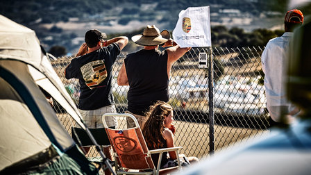 Fans of Porsche at the racetrack