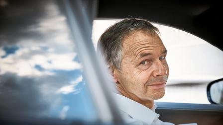 August Achleitner im neuen Porsche 911
