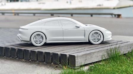 Porsche Taycan model (1:10)