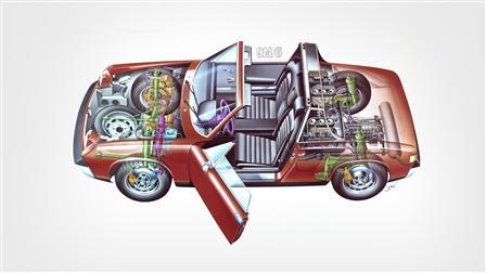 Porsche 1970-72, 914-6 le dessin fantôme
