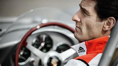 Porsche Factory-Driver Mark Webber in the 550 Spyder
