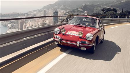 Rally World Champion Walter Röhrl in the Monte-Carlo 911 of 1965