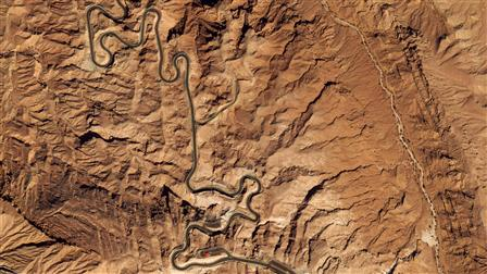 Jebel Hafeet, United Arab Emirates, Aerial view, © Google Inc.