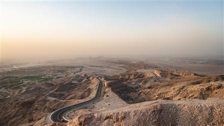 Jebel Hafeet, United Arab Emirates, Bird's-eye view