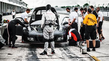 Porsche Pit-stop, 911 GT3 R, Sebring (USA)