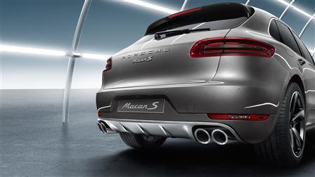 Porsche Macan專用不鏽鋼後飾板