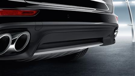 Porsche Cayenne (E2第二代) 專用不鏽鋼後飾板