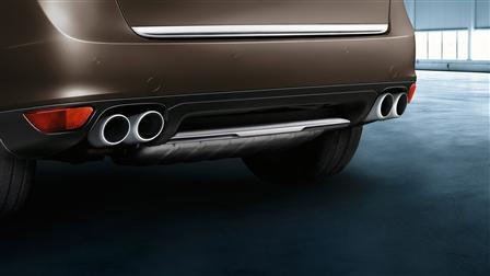 Porsche Cayenne (E2第一代) 專用不鏽鋼後飾板