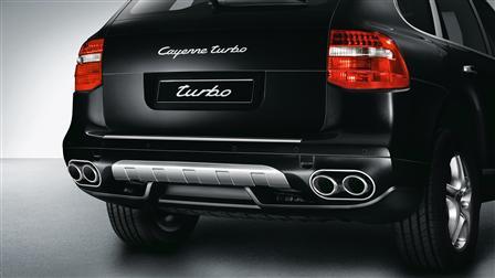 Porsche Cayenne (E1第二代) 專用不鏽鋼後飾板