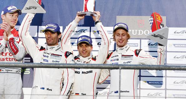 Porsche Team: Webber, Bernhard, Hartley